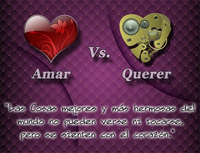 amar versus querer