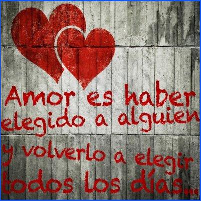 amor es elegir